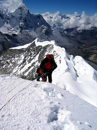 Mountaineering - Image: Summitting Island Peak