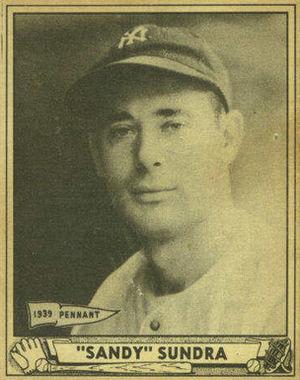 Steve Sundra - Image: Sundra baseball 1940