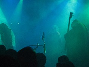 Doom metal - Sunn O))) performing live.