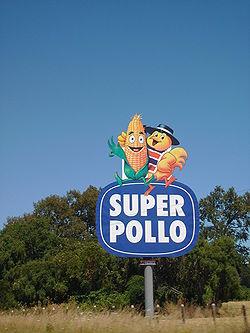 Super Pollo - publicidad junto a ruta chilena