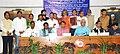 Suresh Prabhakar Prabhu, the Union Minister for Tribal Affairs, Shri Jual Oram, the Minister of State for Railways, Shri Manoj Sinha and the Minister of State (IC) Department of Commerce & Transport, Odisha (1).jpg