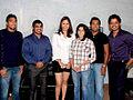 Sushil Kumar, Jwala Gutta, Leander Paes, Sreesanth on the sets of KBC 04.jpg