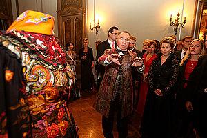 Slava Zaitsev - Slava Zaitsev and Svetlana Medvedeva at the exhibition The Russian Evening-2008 in Milan, Italy in September 2008.