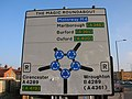 Swindon, The Magic Roundabout, traffic sign - geograph.org.uk - 1096630.jpg