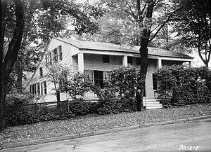 Sylvanus Mulford House - Sylvanus Mulford House, HABS photo, October 1936