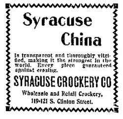 Syracuse China at Syracuse Crockery Company - Syracuse Sunday Herald April 20 1902  sc 1 st  Wikipedia & Syracuse China - Wikipedia