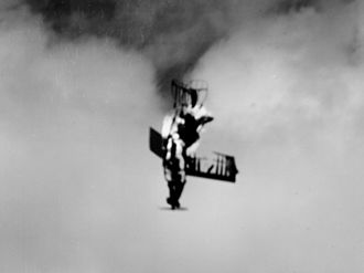 History of unmanned aerial vehicles - A US Navy OQ-2 shot down by the USS Makin Island during a gunnery exercise off Wakanoura, Japan (October 1945)