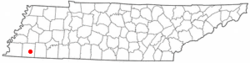 Location of Williston, Tennessee