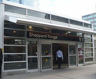 Sheppard–Yonge station - Image: TTC Sheppard Yonge 01
