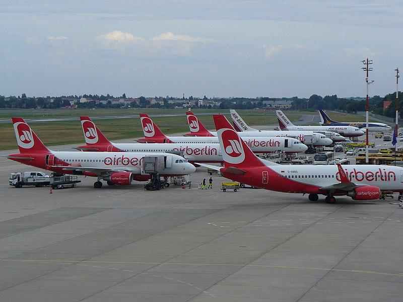 Air Berlin в аэропорту Берлина Тегель