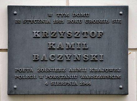 Krzysztof Kamil Baczyński Wikiwand