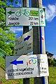 Tablice trasy K-M-W i WTR w Skoczowie.JPG