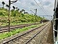 Tail of Freight train near Hamsavaram railway station.jpg