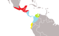 Tamandua mexicana map.png