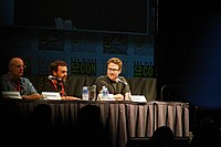 Tambor and Rogen at Comic-Con.jpg