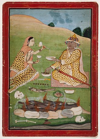 Ganachakra - Tantric Feast, India, Himachal Pradesh, Nurpur, circa 1790