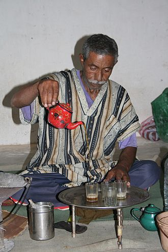 Maghrebi mint tea - Saharawi tea ceremony.