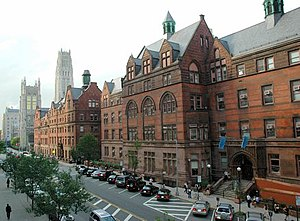 Teachers College, Columbia University - Teachers College buildings on 120th St., looking northwest
