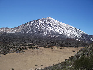 Teide volcano of montaña Tenerife in the Canary Islands