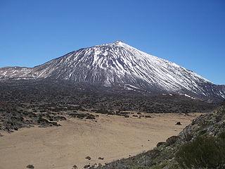 volcano of montaña Tenerife in the Canary Islands