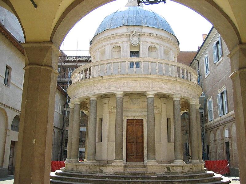 Templete de San Pietro in Montorio, Roma, de Bramante