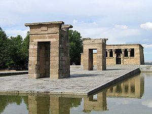 Siege of Cuartel de la Montaña - Site of the Temple of Debod in Principe Pío, former location of the Montaña Barracks.