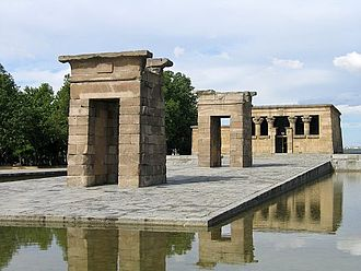 Siege of Cuartel de la Montaña - Site of the Temple of Debod in Principe Pío, former location of the Montaña Barracks.