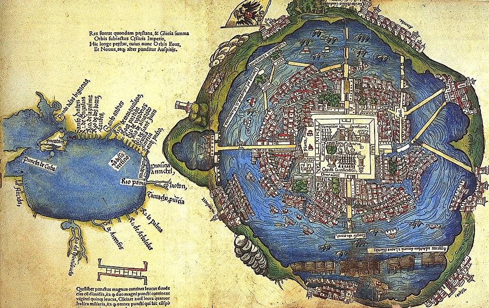 Tenochtitlan y Golfo de Mexico 1524