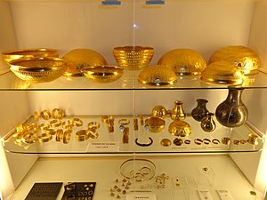 Hoard - Treasure of Villena, 1000 BC, the second biggest prehistoric gold hoard in Europe. Discovered in 1963