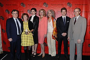 The Good Wife - Robert King, Michelle King, Julianna Margulies, Christine Baranski, Mary Beth Peil, Matt Czuchry and David Zucker of The Good Wife at the 70th Annual Peabody Awards