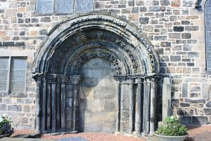 Kirkliston - The 12th century south door