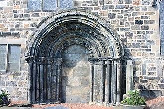 Kirkliston - The 12th century south door