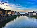 The Arno from Ponte alle Grazie - Ponte Vecchio in the background - Florence.jpg