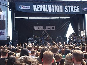 The Bled - The Bled performing on the Projekt Revolution Tour on September 1, 2007 at First Midwest Bank Amphitheatre in Tinley Park, Illinois.