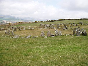 Isle of Man - The Braaid in central Isle of Man, with remnants of a Celtic-Norse roundhouse and two longhouses, c. AD 650–950