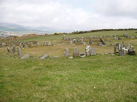The Braaid in the central Isle of Man, with remnants of a Celtic-Norse roundhouse and two longhouses, c. AD 650-950 The Braaid - Isle of Man - kingsley - 21-APR-09.jpg