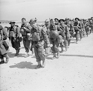 Battle of France - Newly arrived British troops of the 2nd BEF move up to the front, June 1940