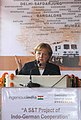 The Chancellor of Germany, Ms. Angela Merkel addressing at the flagging off ceremony of the Science Express, in New Delhi on October 30, 2007.jpg