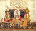 The Emperor Bahadur Shah II Enthroned.jpg