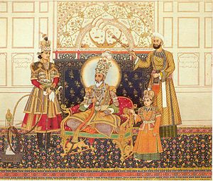 Mirza Mughal - Image: The Emperor Bahadur Shah II Enthroned