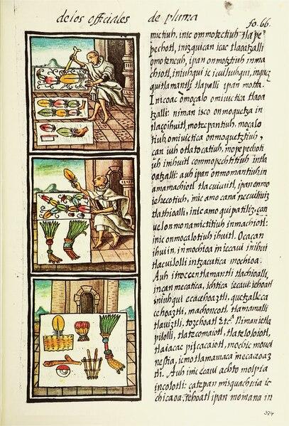 File:The Florentine Codex- Aztec Feather Painters IV.tiff
