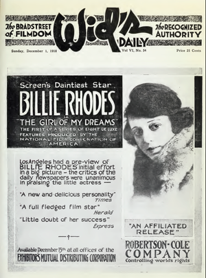 Louis Chaudet - Advertisement for The Girl of my Dreams (1918) with Billie Rhodes, a film directed by Louis William Chaudet.