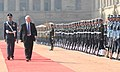 The Governor General of Canada, Mr. David Johnston inspecting the Guard of Honour, at the Ceremonial Reception, at Rashtrapati Bhavan, in New Delhi on February 24, 2014.jpg