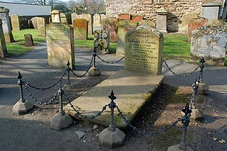 Agnes Broun - The grave of William Burness or Burnes in Alloway Kirkyard.