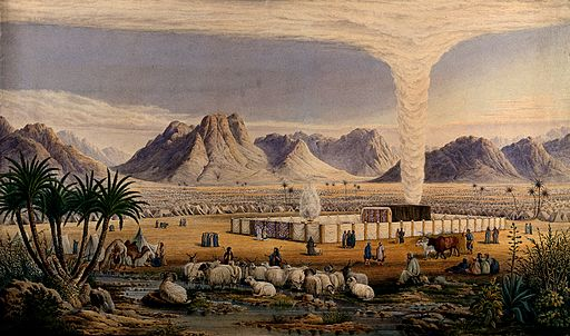 The Israelites' encampment in the wilderness, guided by God Wellcome V0050134