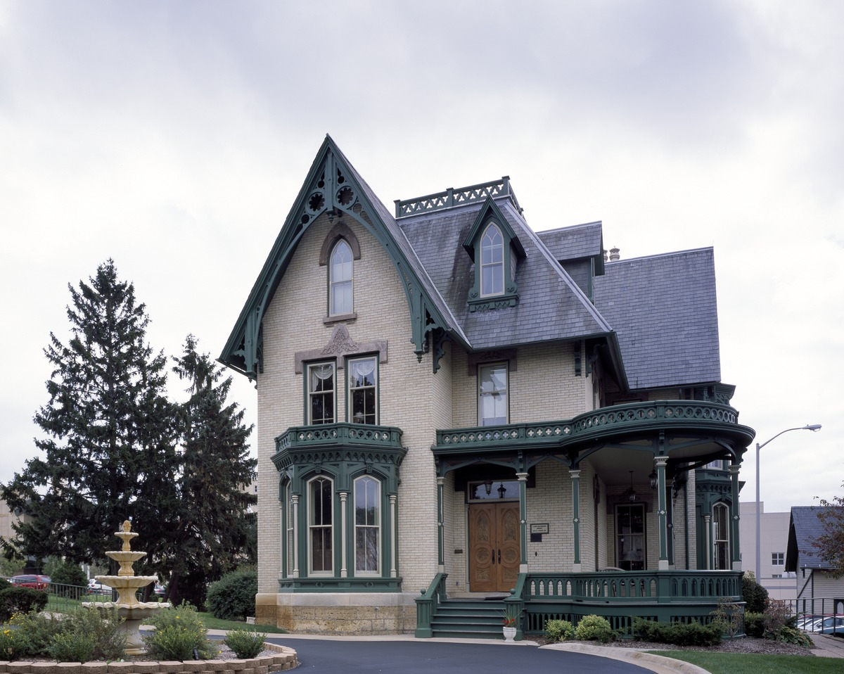 The gallery for gothic revival style house for Gothic revival house