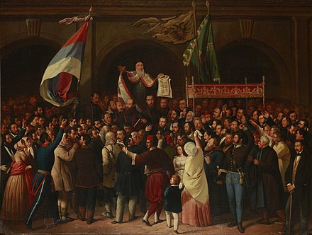 Proclamation of the Serbian Vojvodina in May 1848 The May Assembly 1848 in Sremski Karlovci.jpg