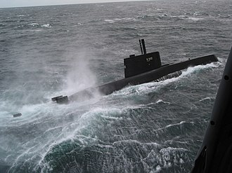 Ula-class submarine - Utstein participating in the exercise Odin-One in August 2003