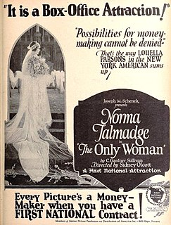 <i>The Only Woman</i> 1924 film by Sidney Olcott