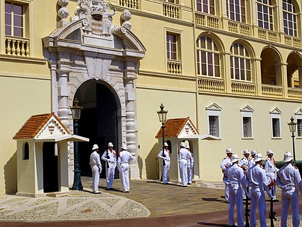 Palace guards in Monaco